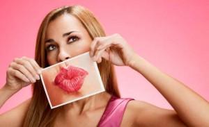 Chica con aumento de labios