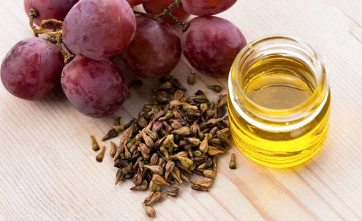 Aceite de semillas de uvas para el pelo y piel