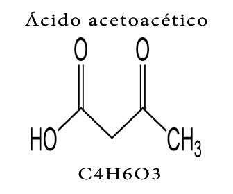 acido acetoacetico formula y estructura quimica