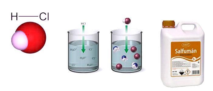 Qué es el ácido clorhídrico, usos y función