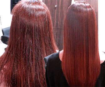 Resultados del alisado con ácido hialurónico para el pelo