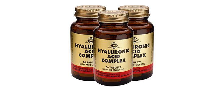 Pastillas de ácido hialurónico 120 mg.