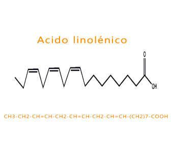 acido linolenico formula y estructura química