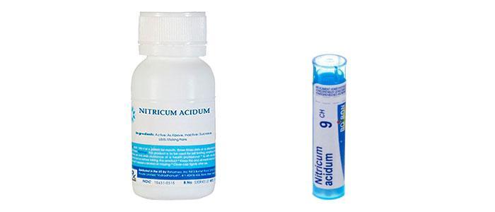 Ácido nítrico en homeopatía, Nitricum acidum