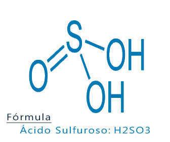 acido sulfuroso fórmula y estructura química
