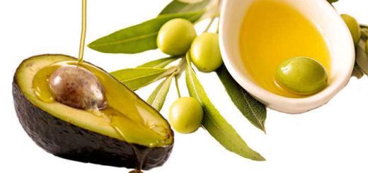 aguacate y aceite de oliva para el cabello