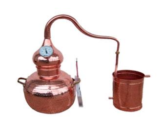alambique para destilacion por vapor