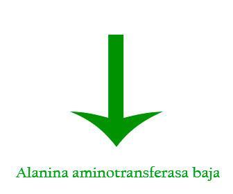 Alanina aminotransferasa baja