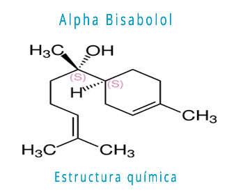 alfa o alpha bisabolol estructura química