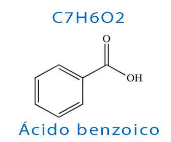 fórmula del ácido benzoico y estructura química