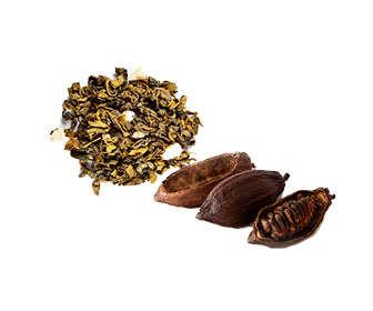 cacao puro y té verde