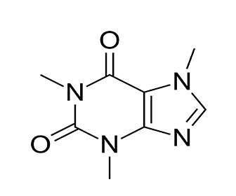 Estructura química de la cafeina