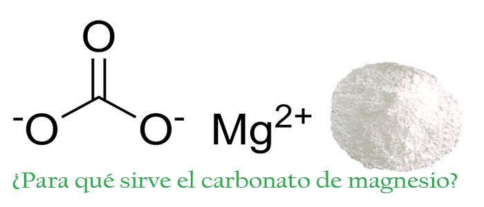 Carbonato de magnesio para qué sirve
