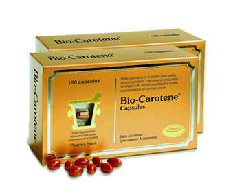 Carotenos en pastillas y antioxidantes en cápsulas