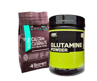 caseinato calcio y glutamina