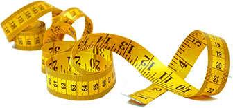 Cinta para medir la grasa del abdomen