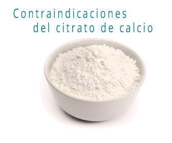 Citrato de calcio contraindicaciones y efectos secudarios