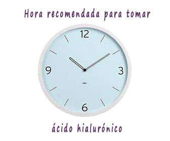 Horario recomendado para tomar ácido hialuróncio (mañana o noche)