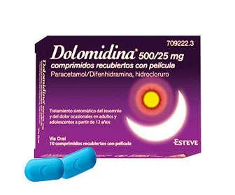 dormidina con paracetamol o dolomidina