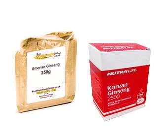eleutherococcus senticosus o ginseng coreano