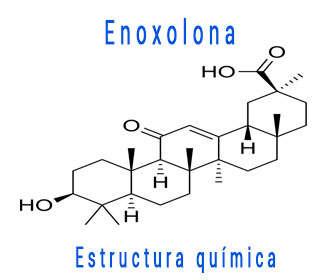 Estructura química de Enoxolona