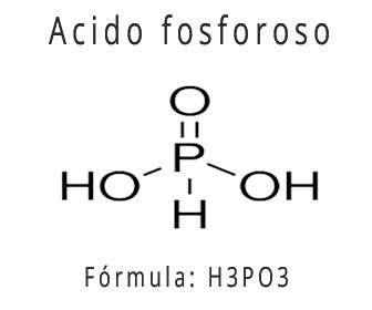Fórmula química del ácido fosforoso o formulación