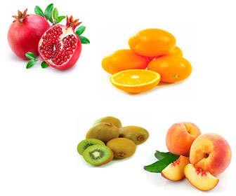 frutas con vitaminas y antioxidantes