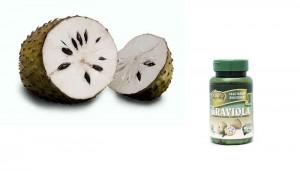 guanabana fruta y capsulas