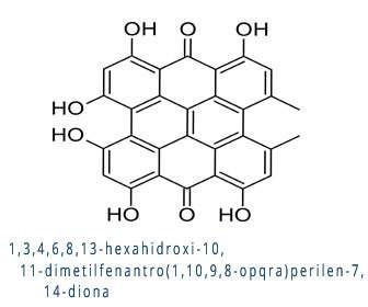 hipericina estructura quimica