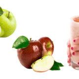 licuado de avena y manzana
