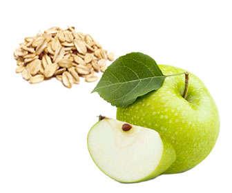 licuado de avena y manazana verde para el colesterol