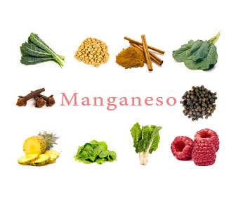 alimentos ricos en manganeso