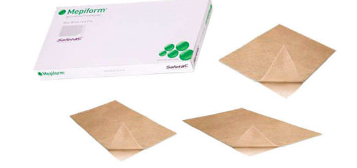 mepiform parches 4x30 y 10x18 cm.