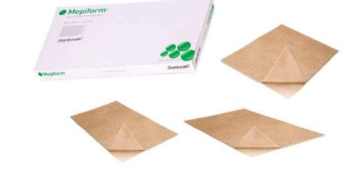 mepiform parches 4x30 y 10x18 cm.