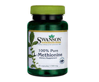 Cápsulas de metionina de 500 mg