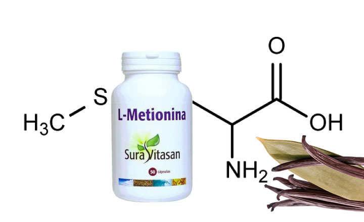 Propiedades de metionina en alimentos y cápsulas