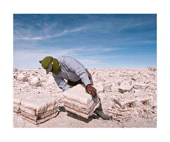 Extracción y obtención de litio en una mina natural