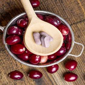 pastillas de arandanos rojos