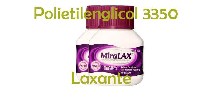 Usos del polietilenglicol como laxante (polietilenglicol 3350)