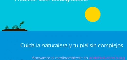 protector solar biodegradable