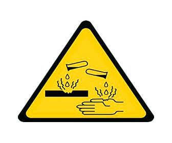 Quemaduras químicas con ácidos
