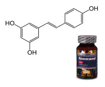resveratrol antioxidante simbolo quimico