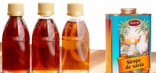 sirope de savia propiedades y composición nutricional