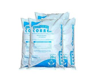 Sacos de sulfato de cobre o cúprico para uso industrial