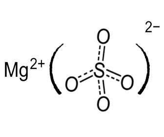 sulfato magnesio estructura quimica