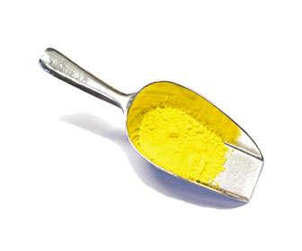 sulfuro de cadmio con color amarillo
