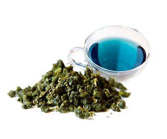 cómo preparar té azul