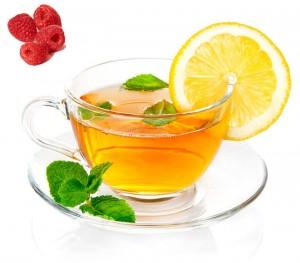 té verde naranjo amargo frambuesas