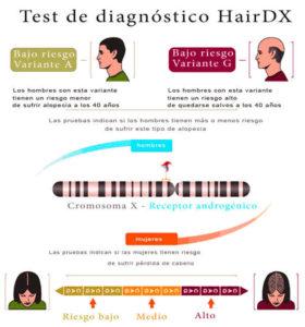 test hairdx para alopecia femenina y masculina
