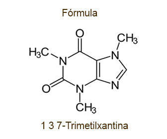 trimetilxantina formula de la cafeina